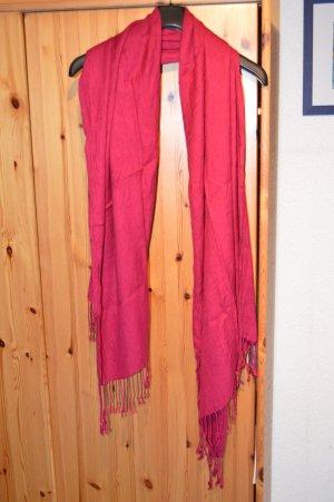 langer Schal/Tuch in weinrot