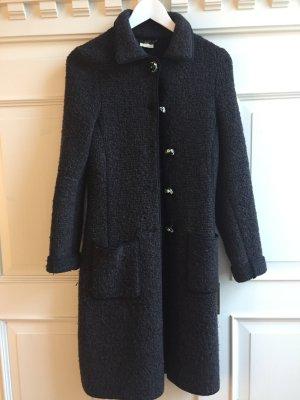 Langer schwarz-brauner kuscheliger Mantel von 20100