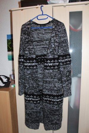 Langer schwarz grauer Cardigan (Strickjacke) Gr. M von Amisu