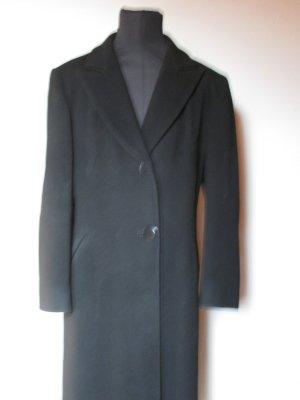 Langer schwarzer Mantel Gr. 40/42