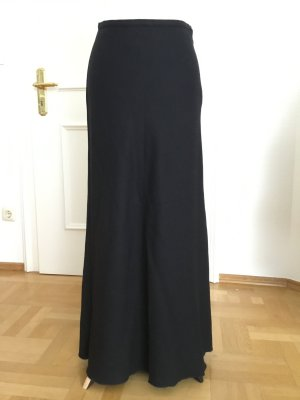 Langer schwarzer Wollrock von Sisley