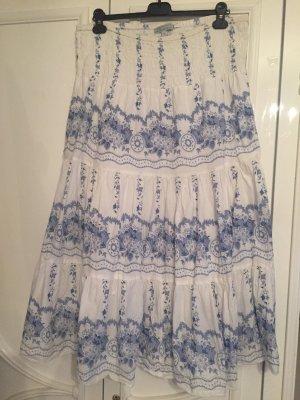 Authentic Maxi rok wit-blauw