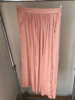 Zara Gonna in seta color oro rosa