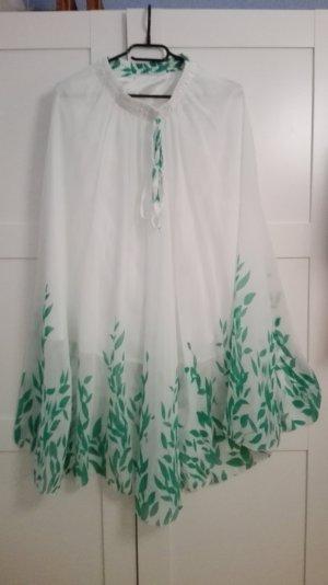 Maxi Skirt white-lime-green