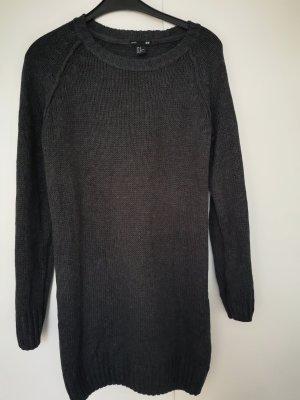 H&M Maglione lungo grigio scuro-antracite