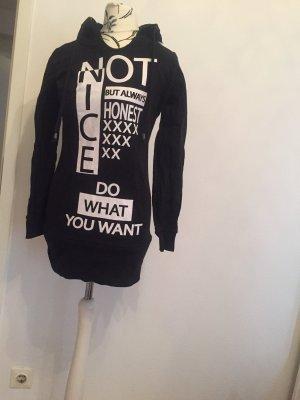 Blind Date Sweatshirt met capuchon zwart-wit