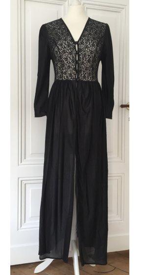 Langer transparenter Vintage Mantel mit Details aus Spitze
