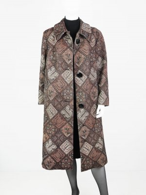 Langer Vintage Gobelin Mantel