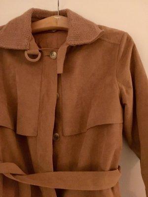 Langer Vintage Mantel/Trenchcoat in beige