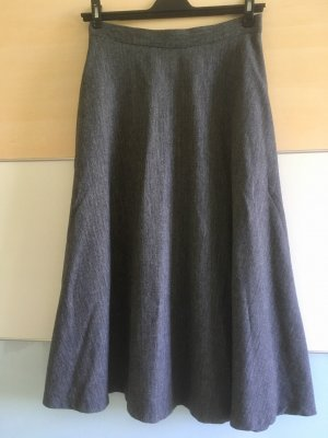Zara Woman Wool Skirt anthracite