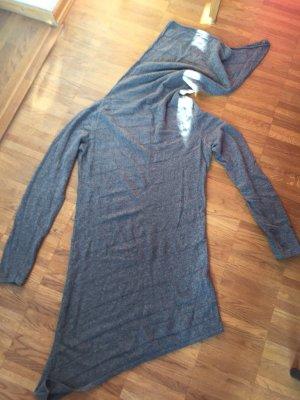 Langer, weicher , Feinstrick Pullover mit langem weiten Rollkragen