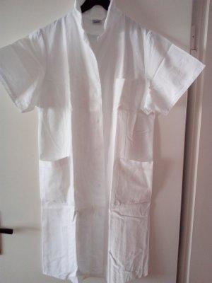 Langer weißer Mantel geeignet für Küche/Hobby