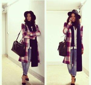 Zara Manteau en laine multicolore laine