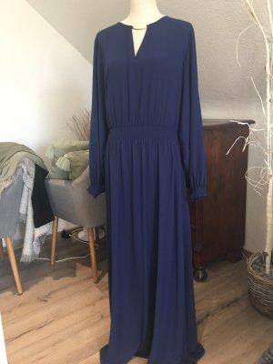 Langes Abendkleid blau