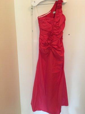 Barbara Schwarzer Vestido de noche rojo frambuesa