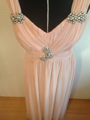 Langes Abendkleid in Zartrosa