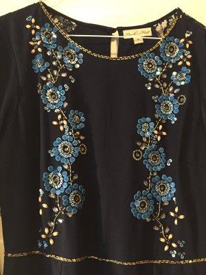 Langes Abendkleid mit floralem Muster aus Pailletten von Frock and Frill