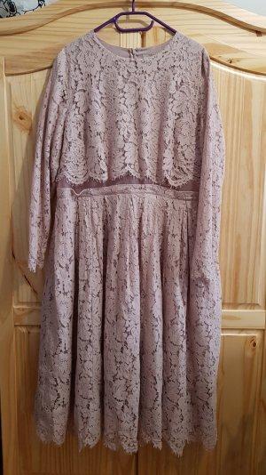 Asos Lace Dress dusky pink