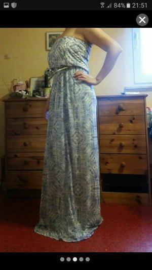 Langes  Bedrücktes-Kleid