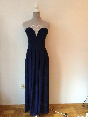 Langes blaues Abendkleid