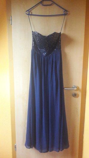 langes blaues kleid