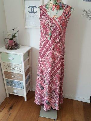 Vestido largo rojo frambuesa-violeta