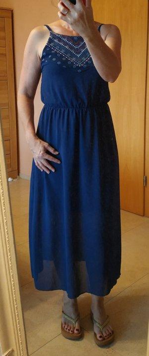 Langes dunkelblaues Kleid, Gr 36