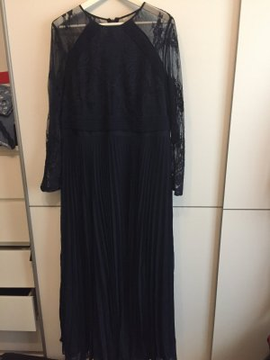 Langes dunkelblaues Kleid Gr.46
