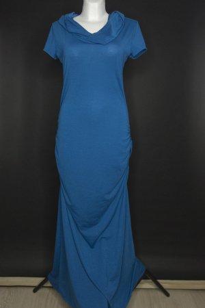 Langes Fantasy-Kleid mit Kapuze und Rücken-Ausschnitt Gr. M-L