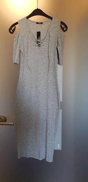 Cut out jurk lichtgrijs