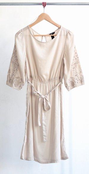 Langes H&M Kleid creme/grau