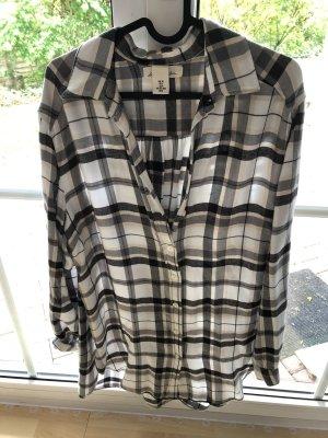 Langes Hemd von H&M Longbluse grau/weiß Größe S/36