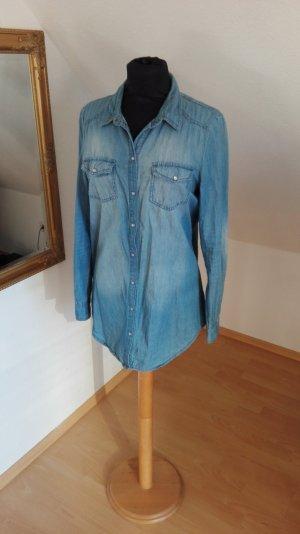 Langes Jeans Hemd Bluse