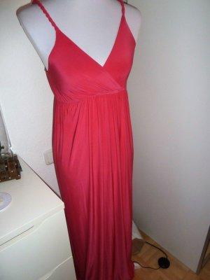Langes jersey Kleid in Pink