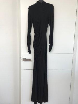 Langes Jerseykleid, schwarz, PIERRE BALMAIN, Größe 34