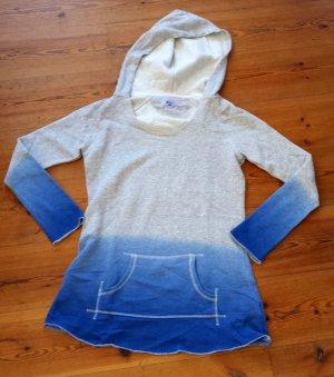 Langes Kapuzen-Sweatshirt von AJC Dip-Dye Gr. M blau grau NEU