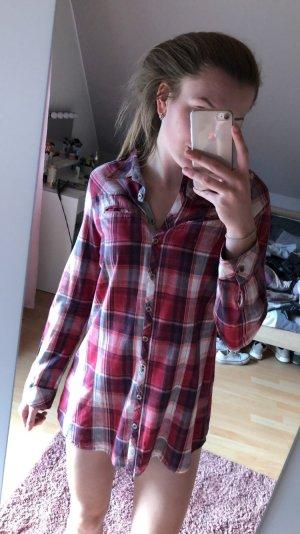Langes Karo-Hemd/Kleid