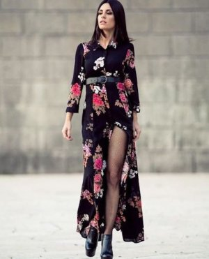 Zara Robe longue noir
