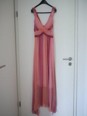 langes Kleid aus leichtem Chiffon mit Farbübergang