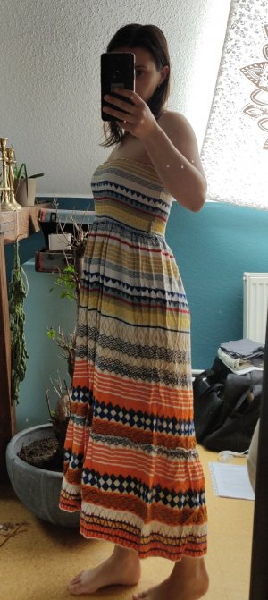 Apricot Off-The-Shoulder Dress multicolored