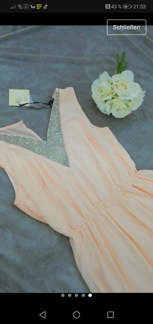 Vestido de baile rosa claro-gris claro
