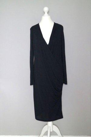 Langes Kleid Gr. M in Wickeloptik schwarz