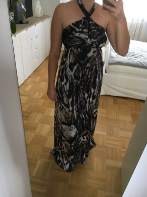 Langes Kleid im Animal Print