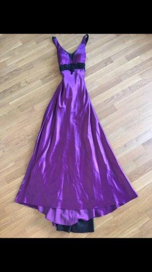 Vestido de baile lila-negro