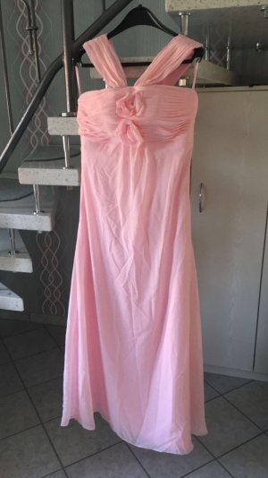 Langes Kleid in rosa