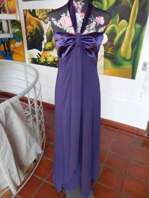 Langes kleid, leichtes Abendkleid, Gr 38, Neckholder, Violett
