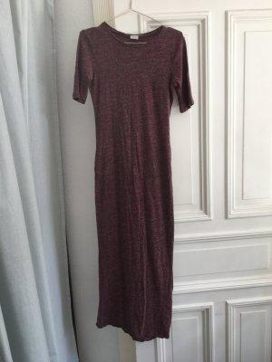 Langes Kleid maxi rot tshirt Ärmel Kurven lang  cool edgy eng oben locker fallend u Ausschnitt Cotton Festival boho Trend