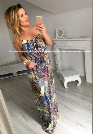 Langes Kleid Maxikleid Sommerkleid Boho Partykleid Trägerkleid Hippie Herrlich luftig leicht passt bei M-XL