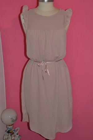 Langes Kleid mit Gürtellasche nude Gr. 38