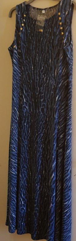 b.p.c. Bonprix Collection Vestido de tela de jersey azul neón